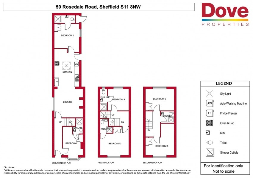 Floor plan for 50 Rosedale Road, Ecclesall Road