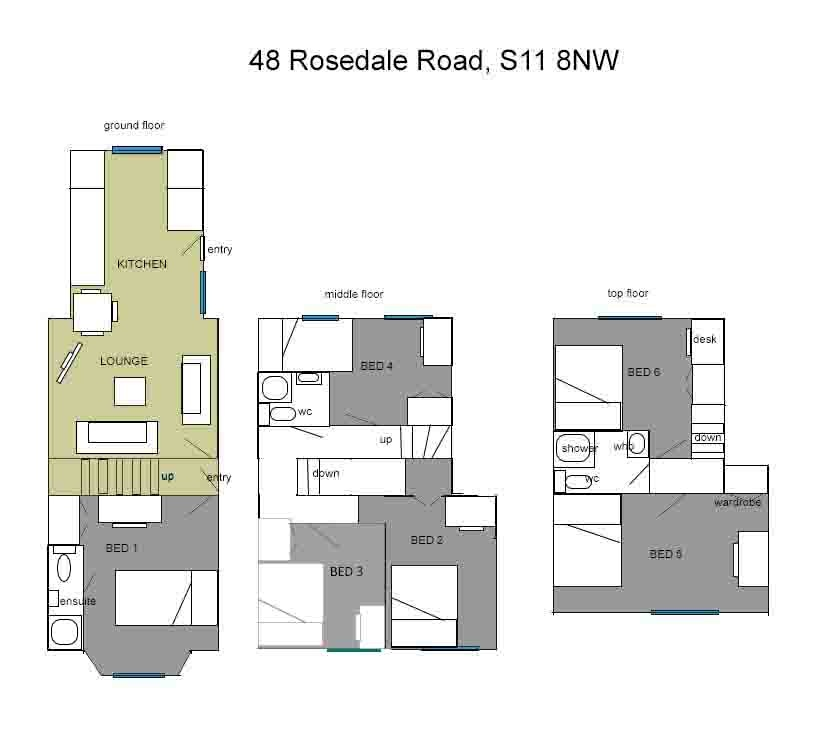 Floor plan for 48 Rosedale Road, Ecclesall Road