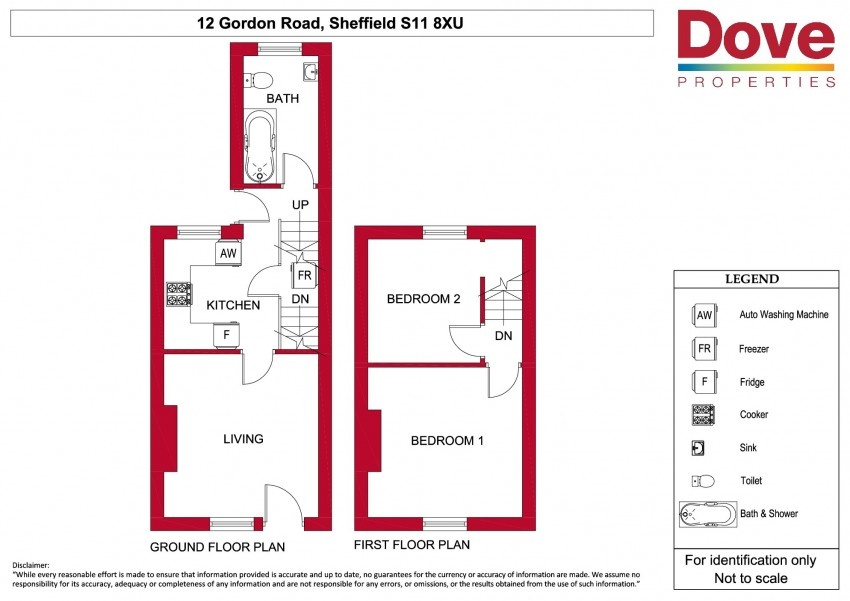 Floor plan for 12 Gordon Road, Ecclesall Road