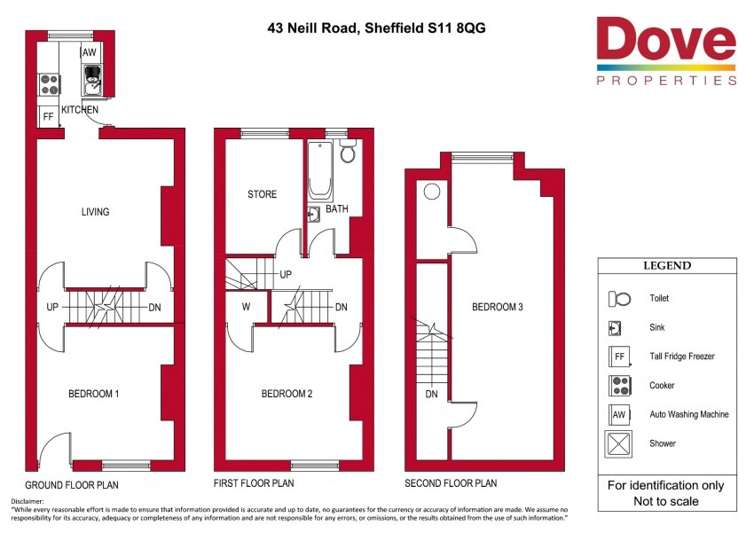 Floor plan for 43 Neill Road, Ecclesall Road