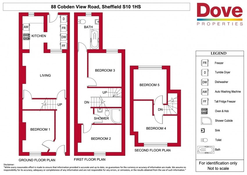 Floor plan for 88 Cobden View Road, Crookes