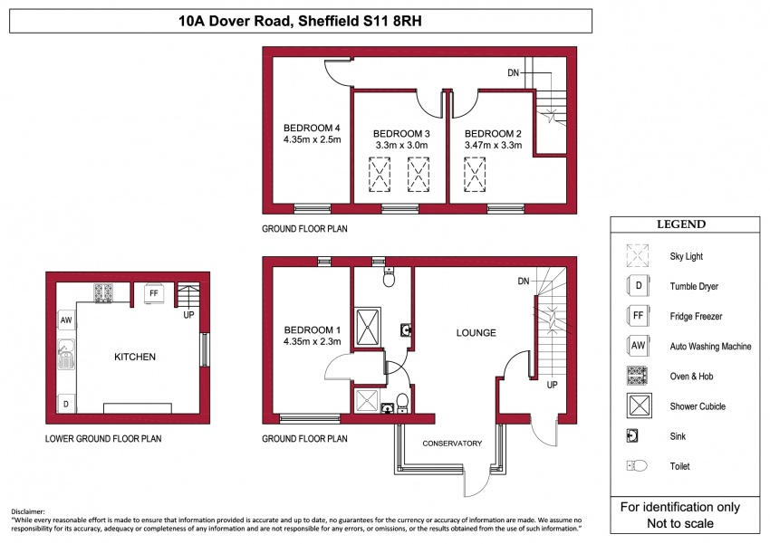 Floor plan for 10A Dover Rd, Ecclesall Road