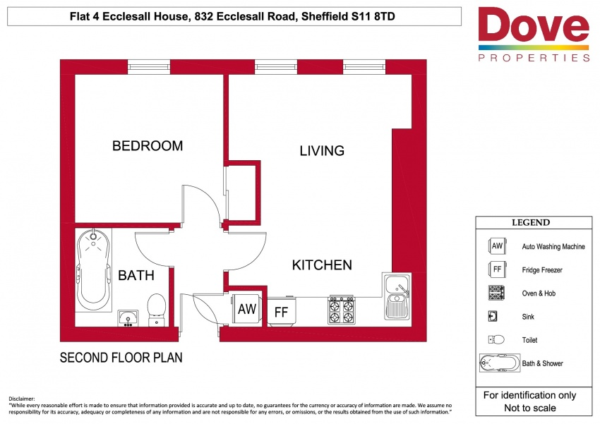Floor plan for Flat 4, 832-834 Ecclesall Rd, Hunters Bar