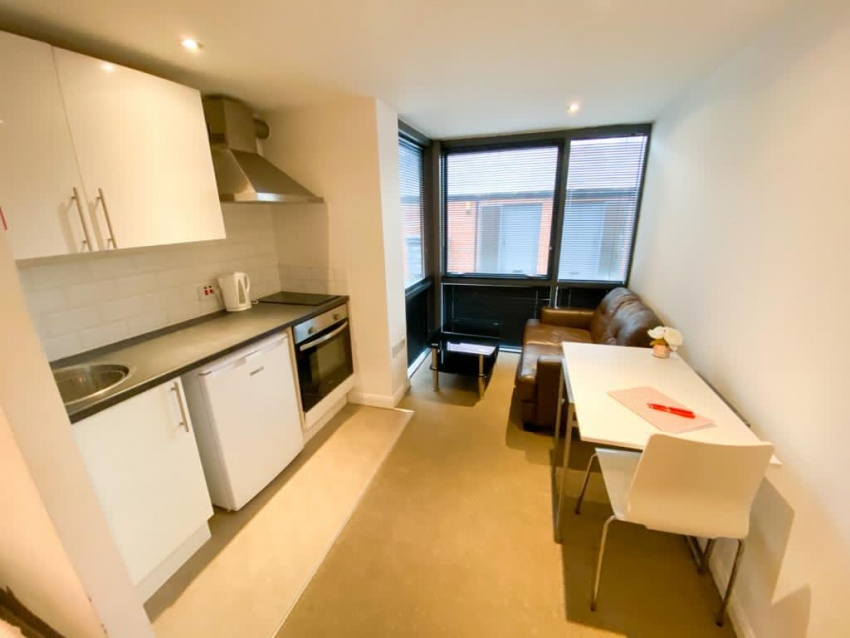Filey Lane - Student Studio - Kitchen & Living Area