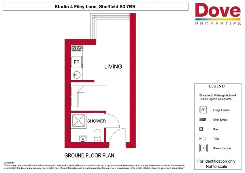 Floor plan for Studio 4, Broomhall House  Filey Lane, Broomhall
