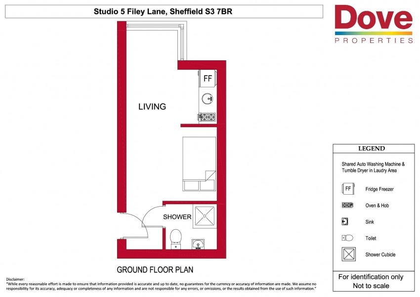 Floor plan for Studio 5, Broomhall House  Filey Lane, Broomhall