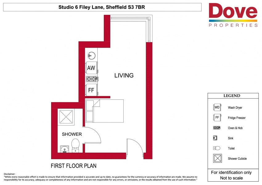 Floor plan for Studio 6, Broomhall House  Filey Lane, Broomhall