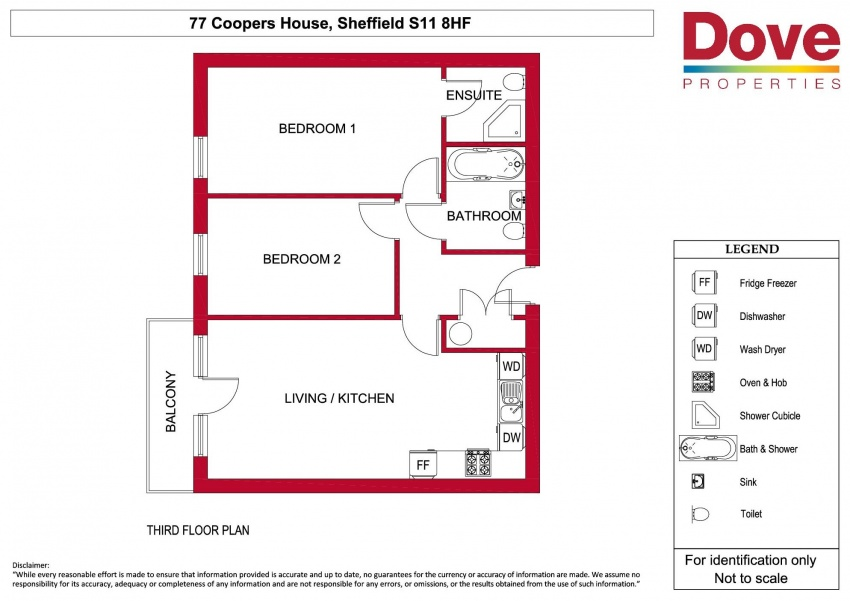Floor plan for 77 Coopers House, Ecclesall Road