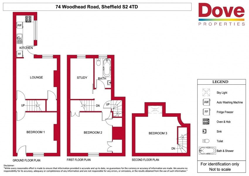 Floor plan for 74 Woodhead Rd, Shoreham Street