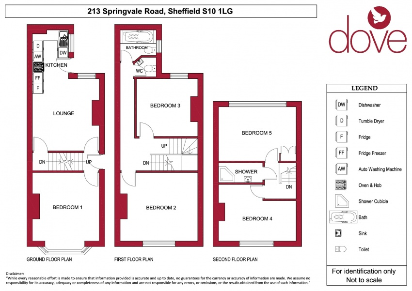 Floor plan for 213 Springvale Road, Crookes