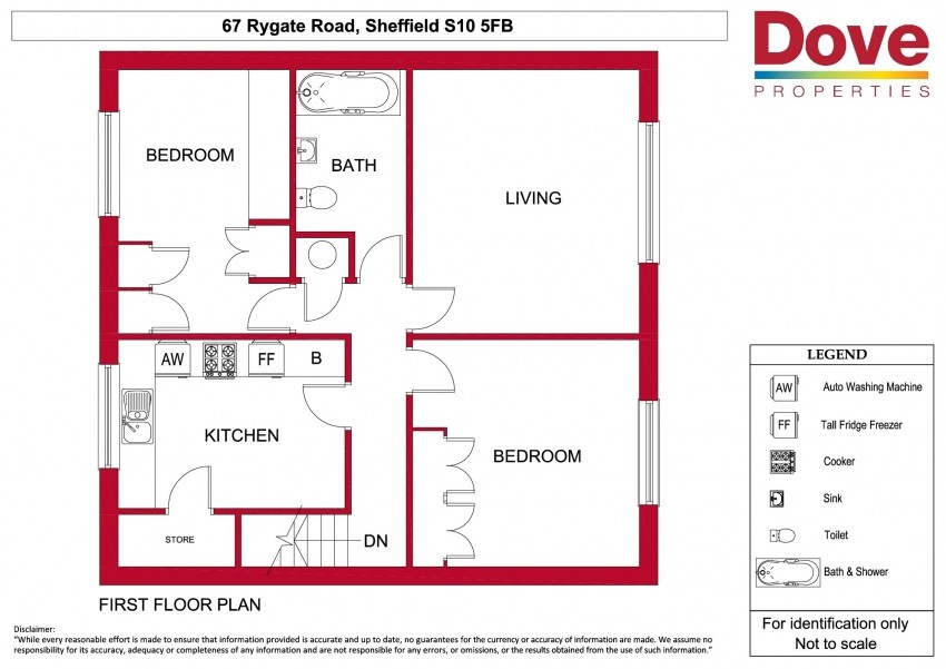 Floor plan for 67 Ryegate Road, Broomhill