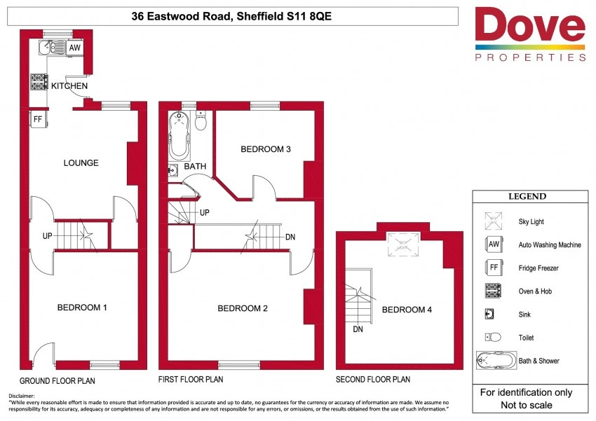 Floor plan for 36 Eastwood Road, Ecclesall Road