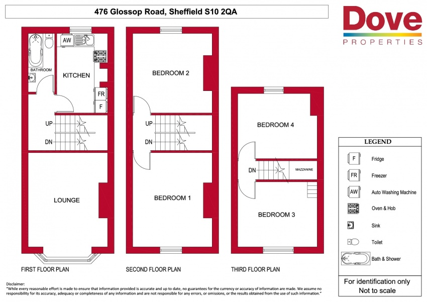 Floor plan for 476 Glossop Road, Broomhill