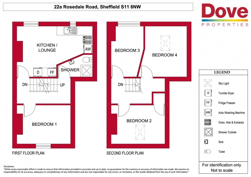 Floor plan for 22A Rosedale Road, Ecclesall Road