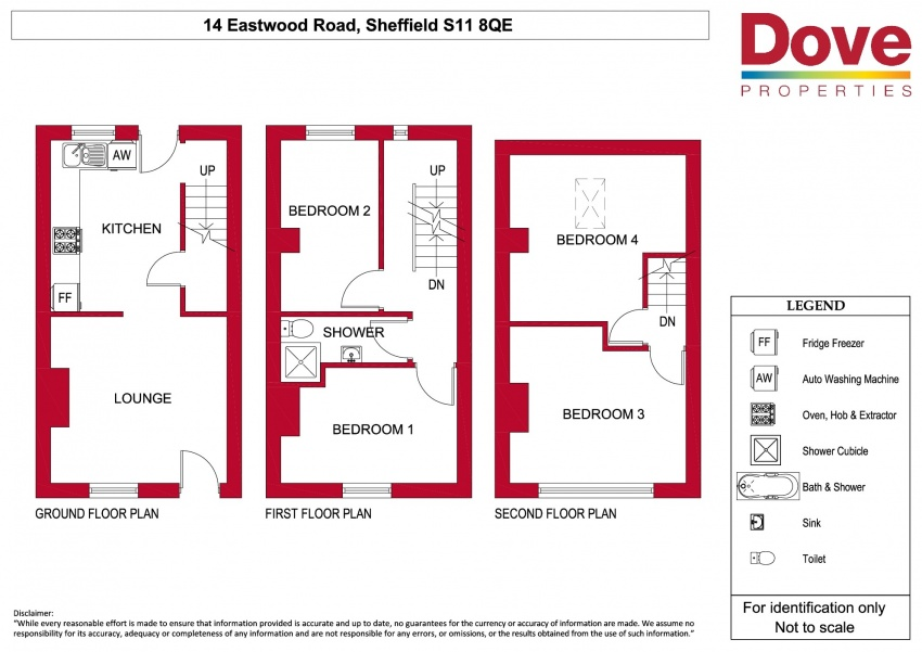 Floor plan for 14 Eastwood Road, Ecclesall Road