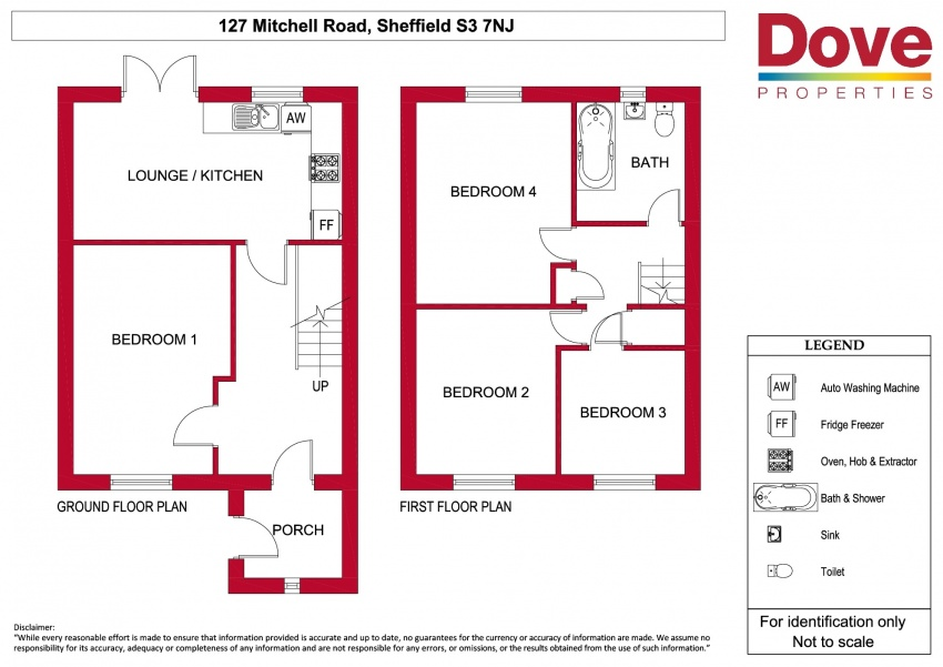Floor plan for 127 Mitchell Street, Crookesmoor