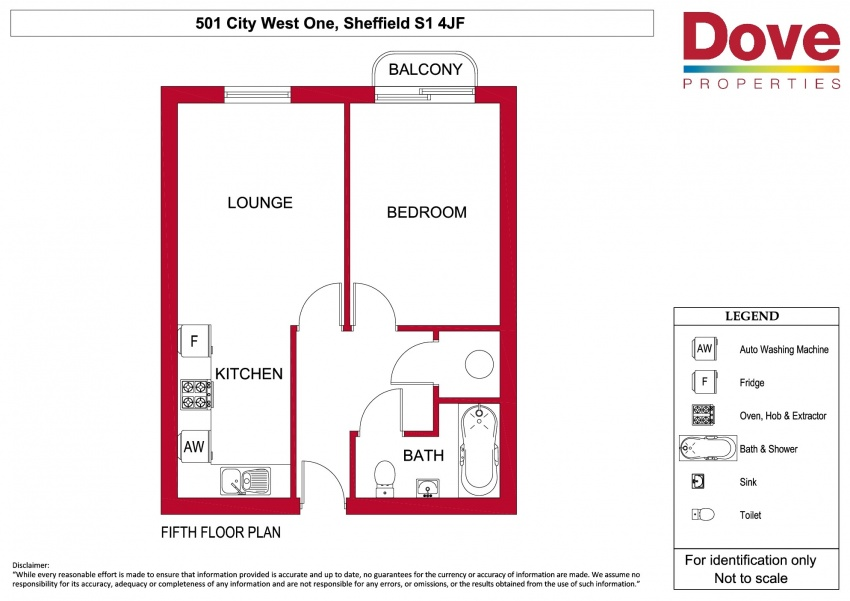 Floor plan for 501 City, West One, City Centre