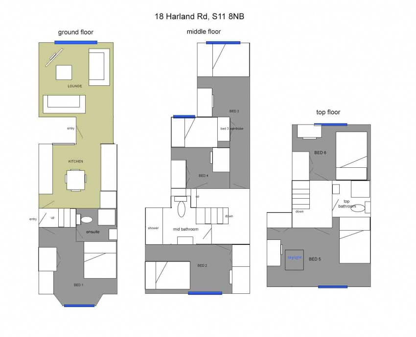 Floor plan for 18 Harland Road, Ecclesall Road