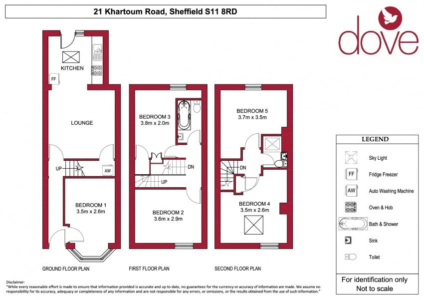 Floor plan for 21 Khartoum Road, Ecclesall Road