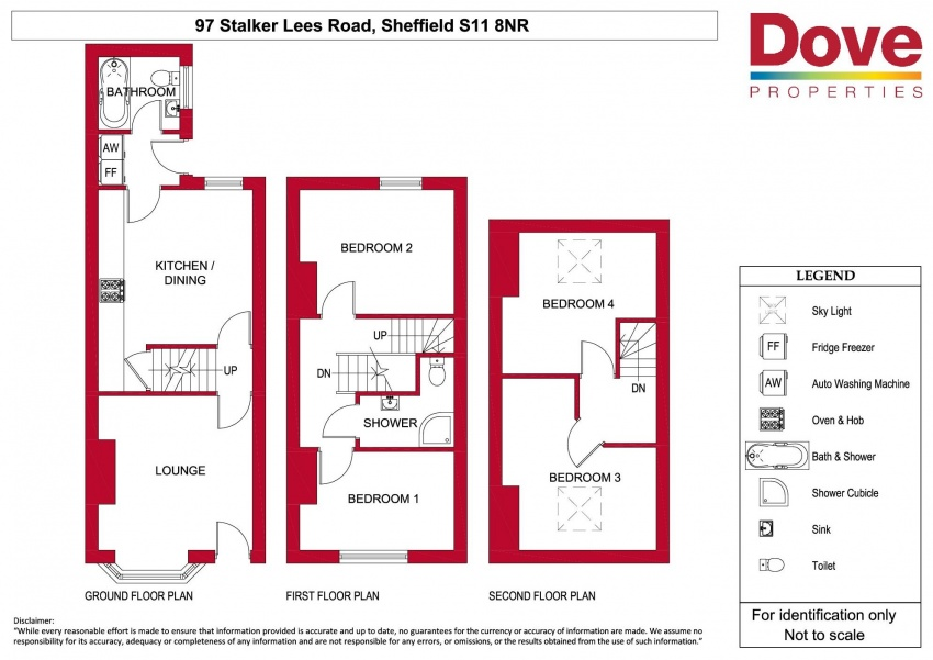 Floor plan for 97 Stalker Lees Road, Ecclesall Road