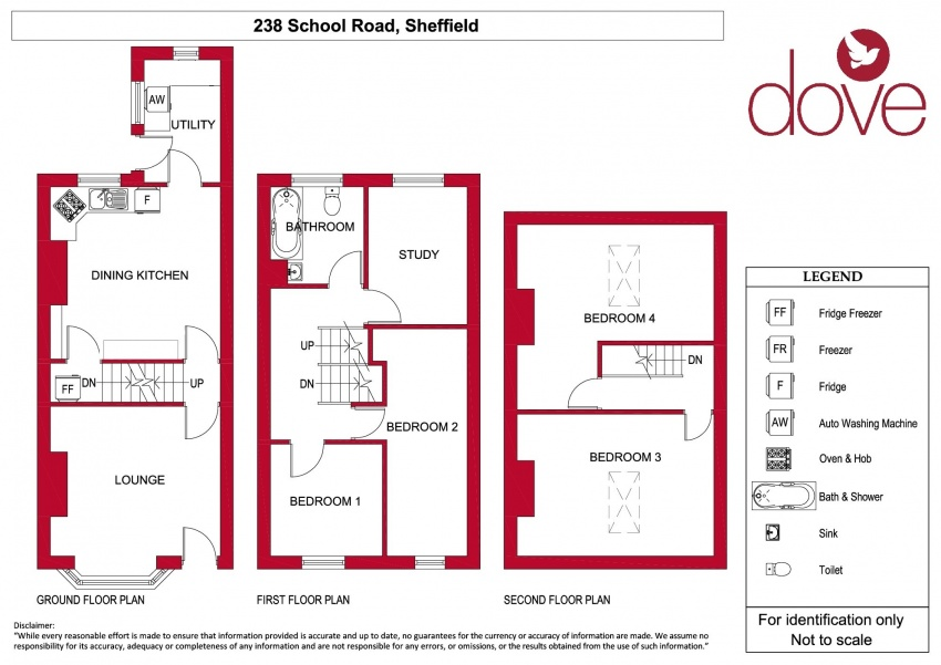 Floor plan for 238 School Road, Crookes