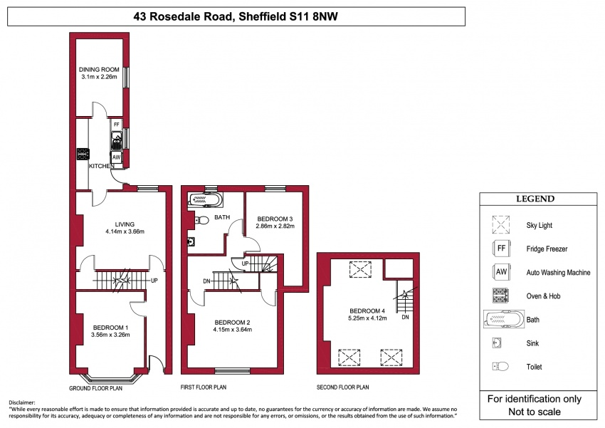 Floor plan for 43 Rosedale Rd, Ecclesall Road