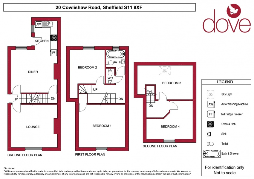 Floor plan for 20 Cowlishaw Rd, Ecclesall Road