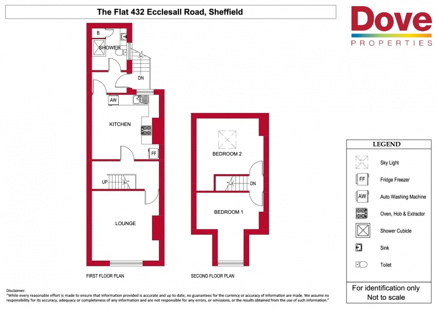Floor plan for Flat Above 432 Ecclesall Road, Ecclesall Road