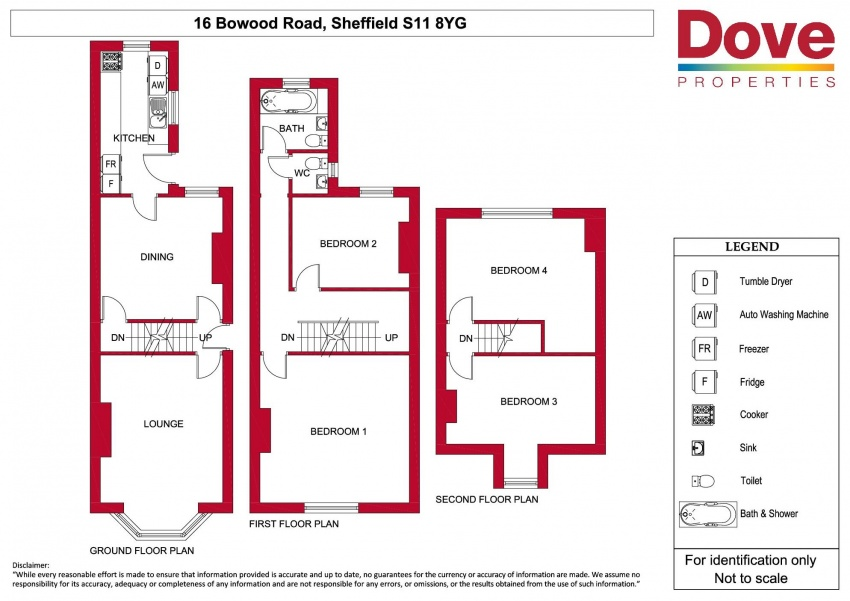 Floor plan for 16 Bowood Rd, Ecclesall Road