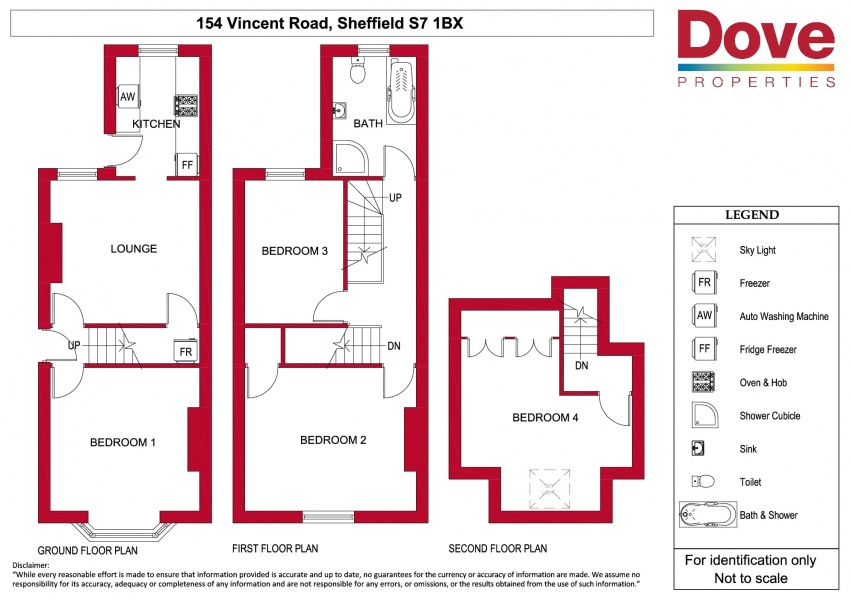 Floor plan for 154 Vincent Road, London Road