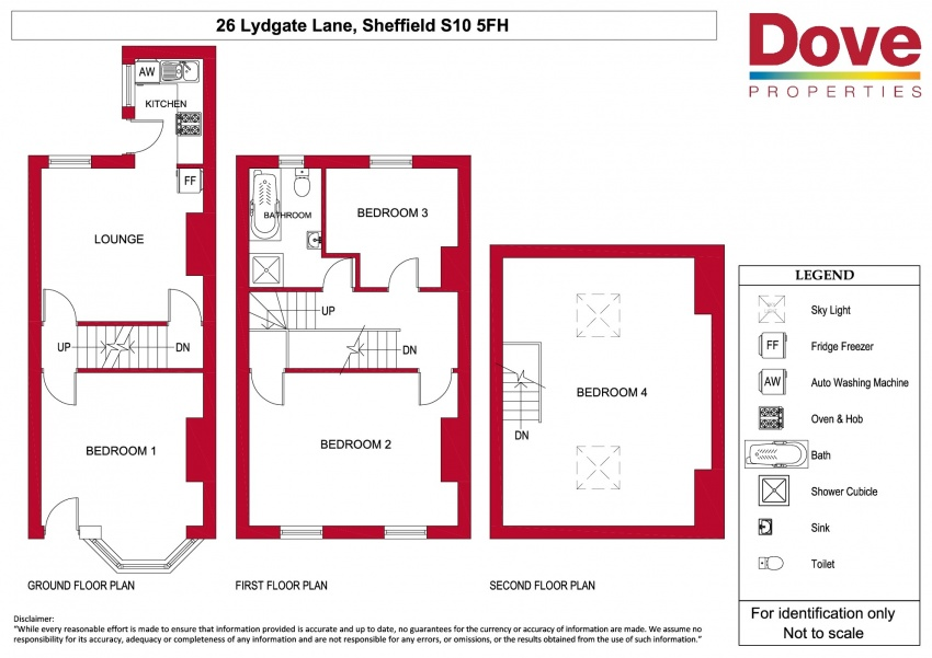 Floor plan for 26 Lydgate Lane, Broomhill