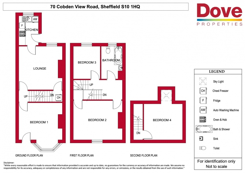 Floor plan for 70 Cobden View Rd, Crookes