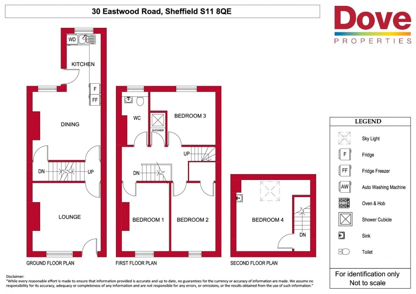 Floor plan for 30 Eastwood Road, Ecclesall Road