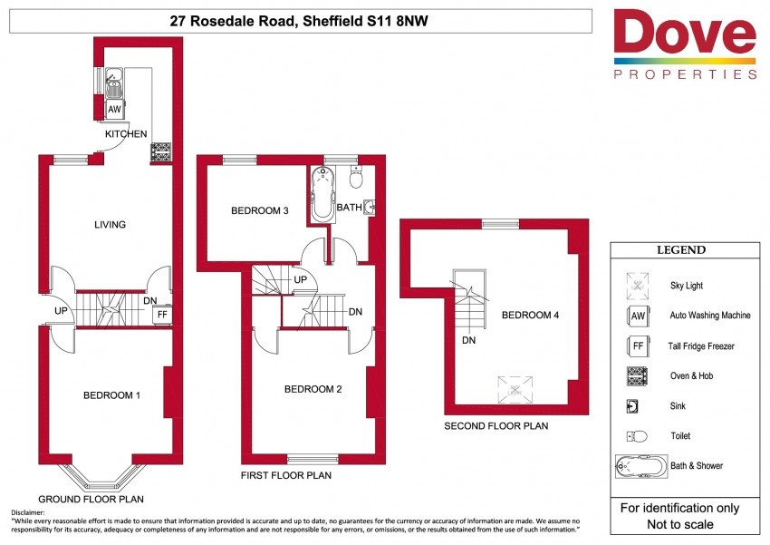 Floor plan for 27 Rosedale Road, Ecclesall Road