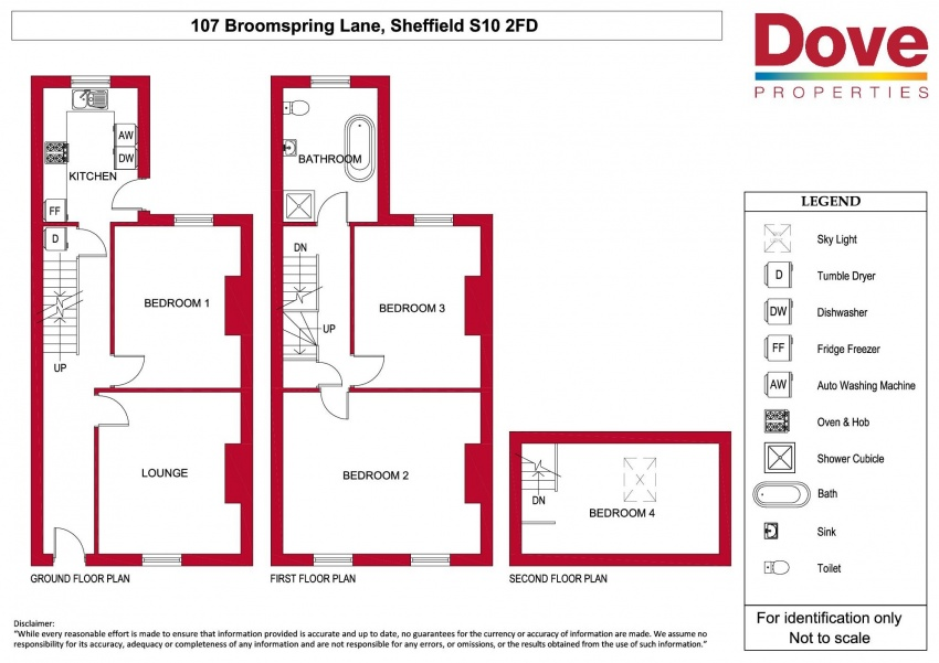 Floor plan for 107 Broomspring Lane, Broomhall