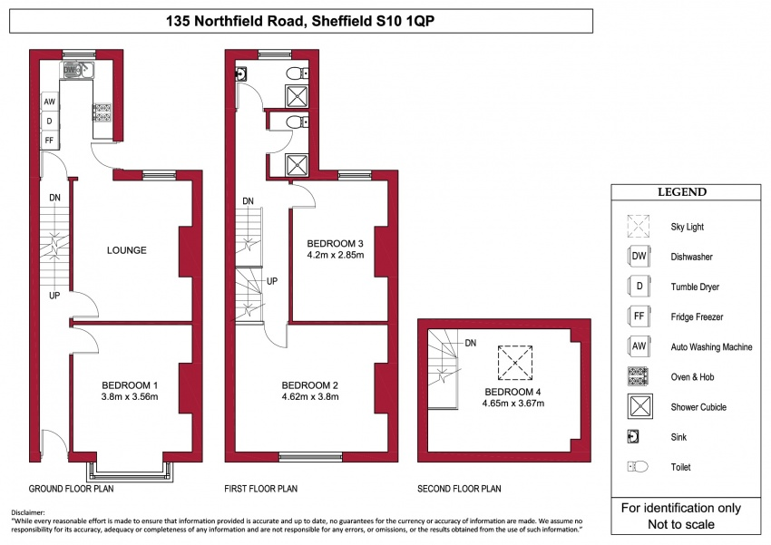 Floor plan for 135 Northfield Road, Crookes