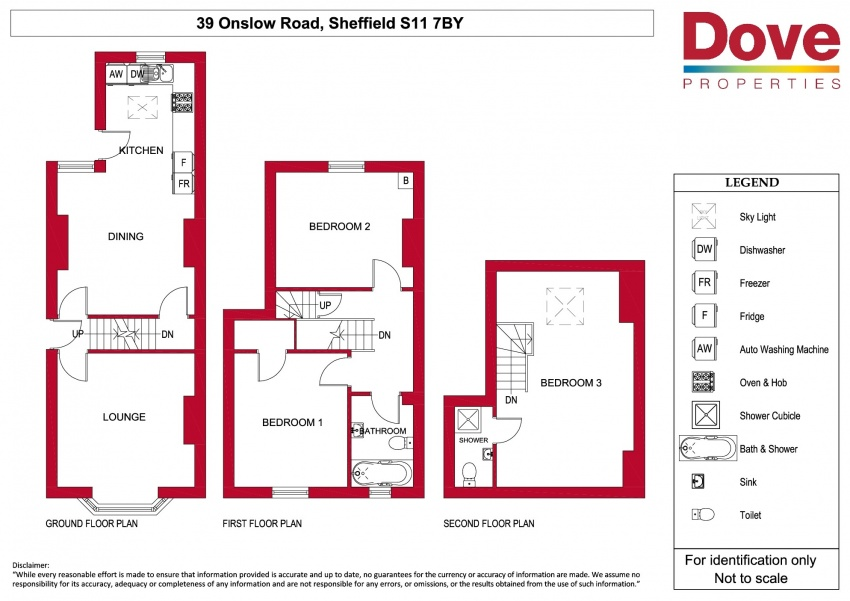 Floor plan for 39 Onslow Road, Hunters Bar