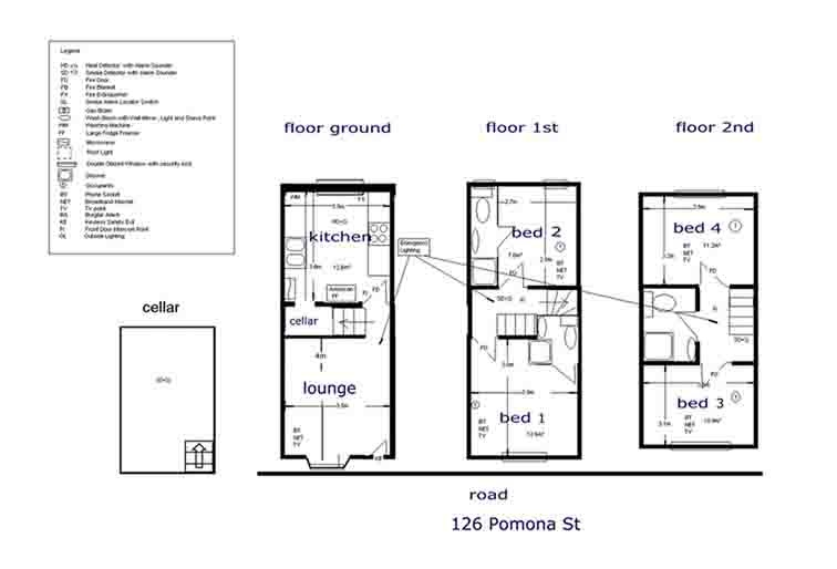 Floor plan for 126 Pomona Street, Ecclesall Road