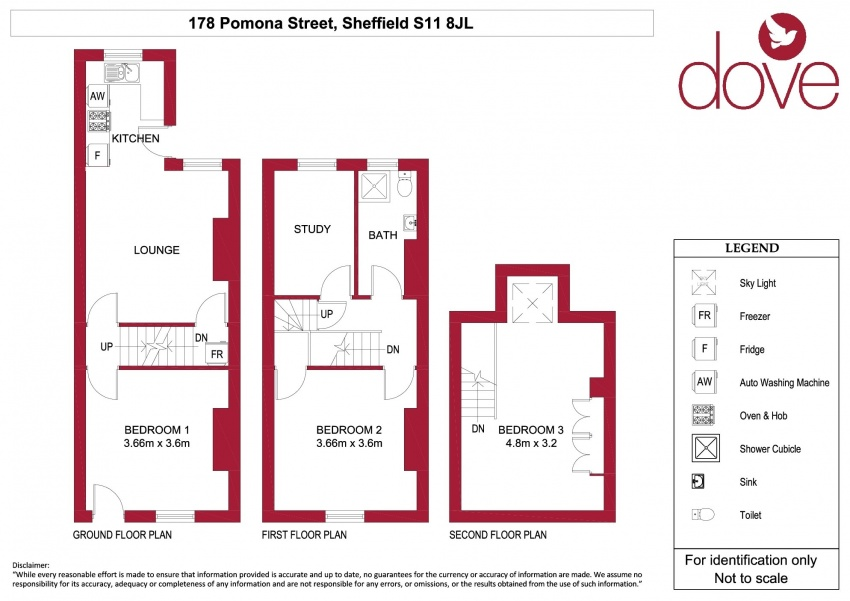 Floor plan for 178 Pomona Street, Ecclesall Road