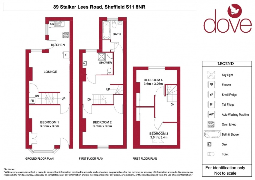 Floor plan for 89 Stalker Lees Road, Ecclesall Road