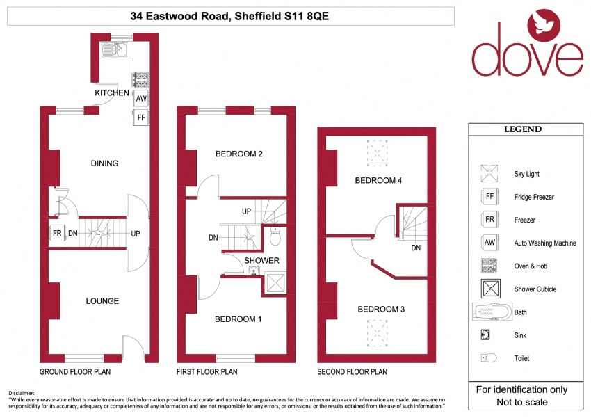 Floor plan for 34 Eastwood Road, Ecclesall Road