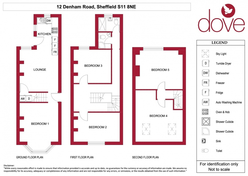 Floor plan for 12 Denham Road, Ecclesall Road