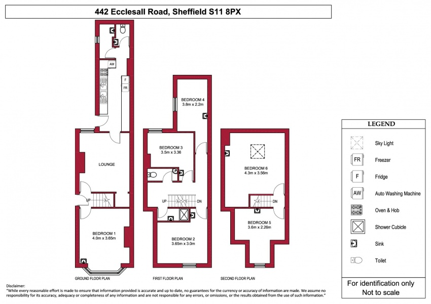 Floor plan for 442 Ecclesall Road, Ecclesall Road