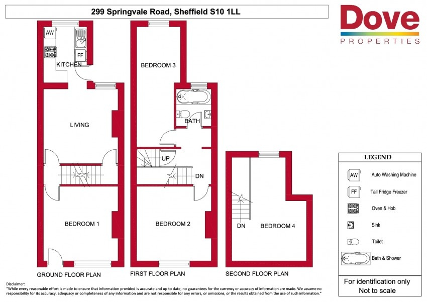 Floor plan for 299 Springvale Road, Crookes