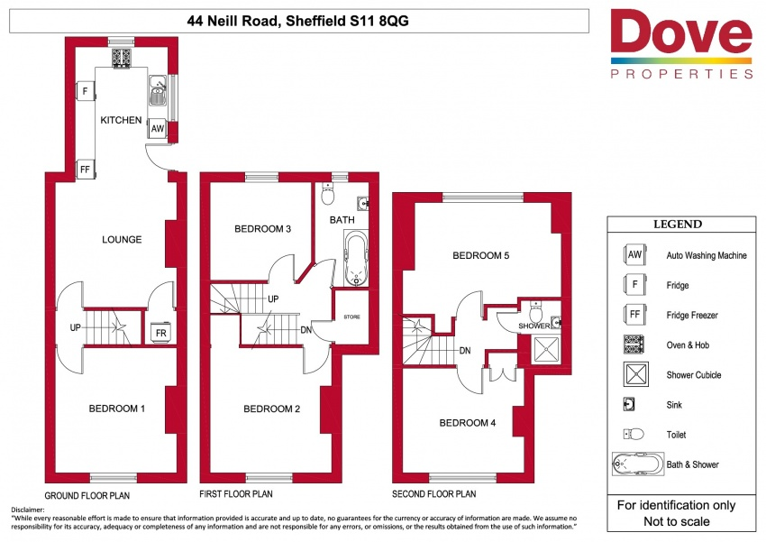 Floor plan for 44 Neill Road, Ecclesall Road