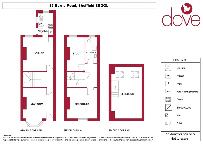 Floor plan for 87 Burns Road, Crookesmoor