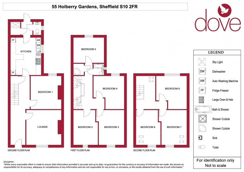 Floor plan for 55 Holberry Gardens, Broomhall