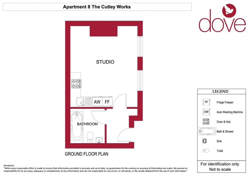 Floor plan for Apartment 8, Cutlery Works, Lambert Street, City Centre