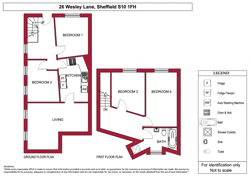 Floor plan for 26 Wesley Lane, Crookes