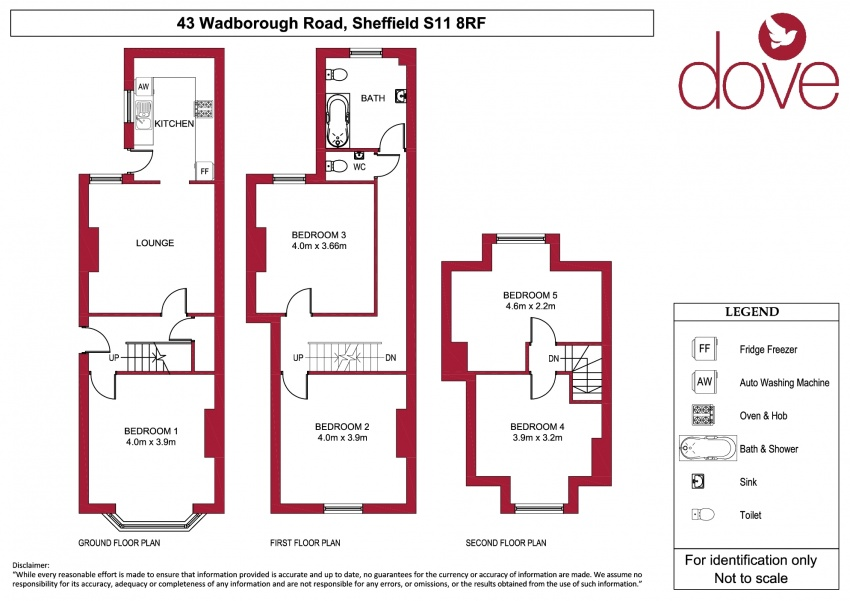 Floor plan for 43 Wadbrough Road, Ecclesall Road
